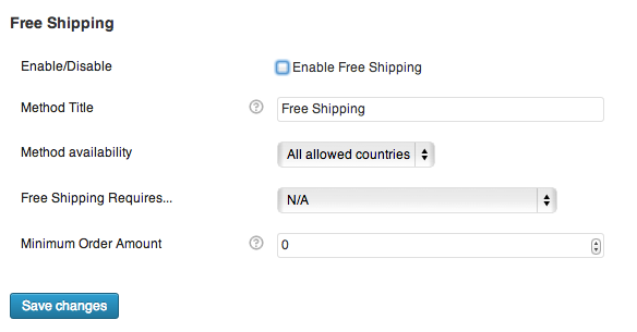 disable free shipping