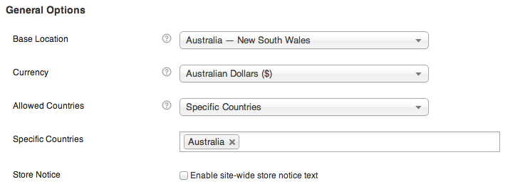 australian woocommerce settings