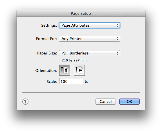 Print Borderless PDF In Mac Office