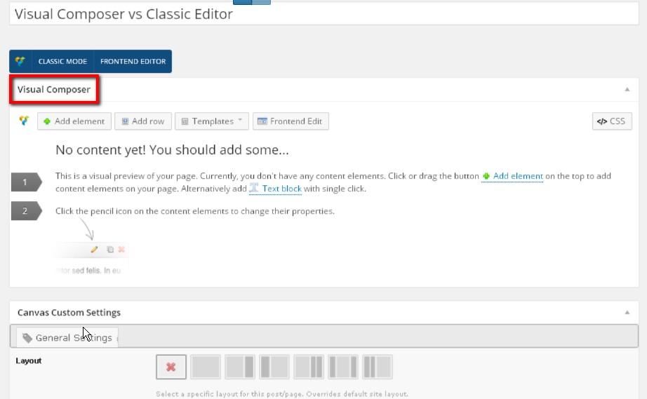 Visual Composer vs Classic Editor - Web Design with
