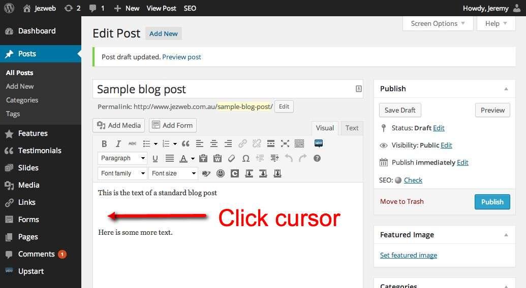Click cursor