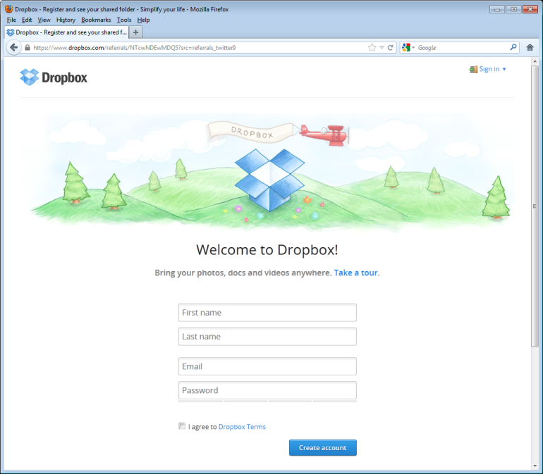 Installing dropbox on your computer