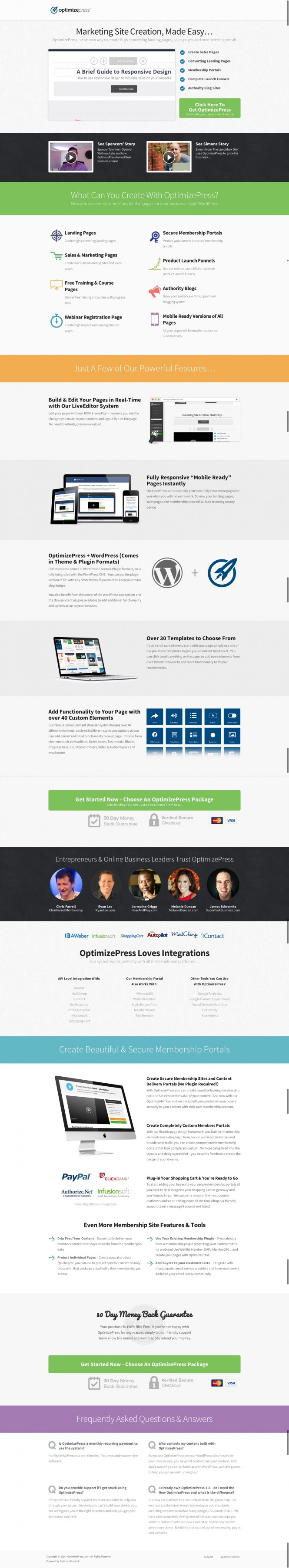 OptimizePress - Create Landing Pages, Sales Pages & Membership Portals