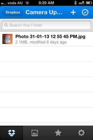 Using dropbox on your iphone