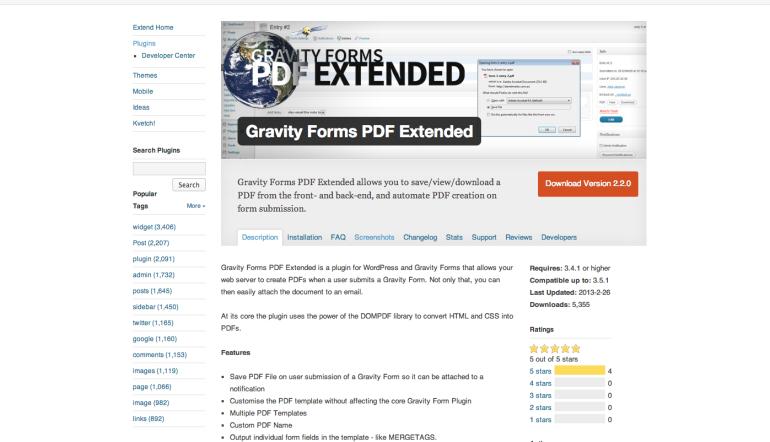 WordPress-›-Gravity-Forms-PDF-Extended-«-WordPress-Plugins-770x442