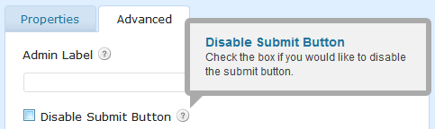 disable submit 2