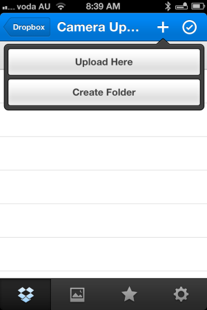 upload images to dropbox