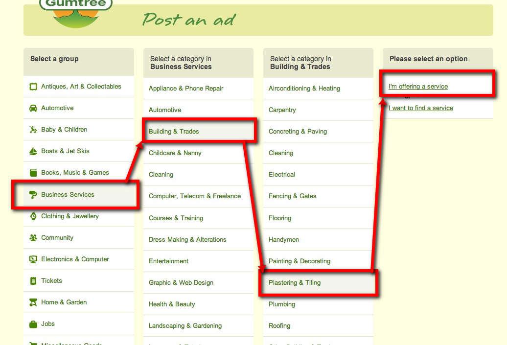 Add a business listing to Gumtree - Web Design with WordPressWeb