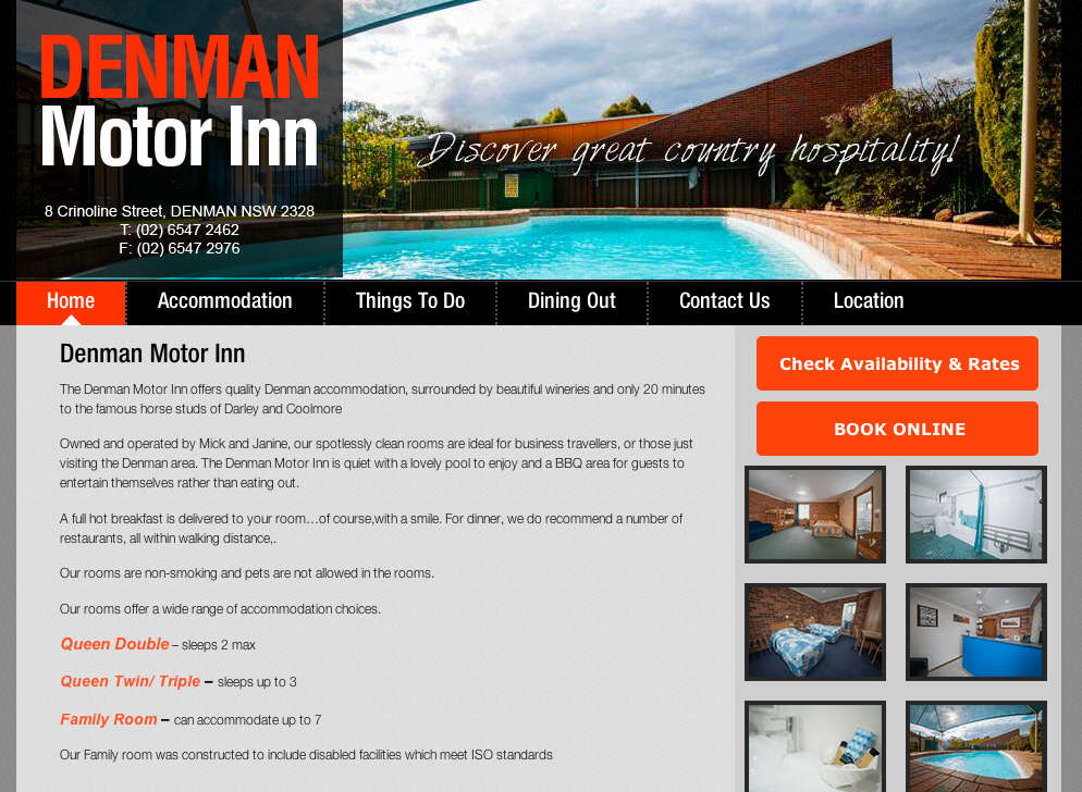 Denman Accommodation - Denman Motor InnDenman Motor Inn
