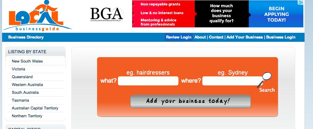 01 - Add business to LocalBuisnessGuide