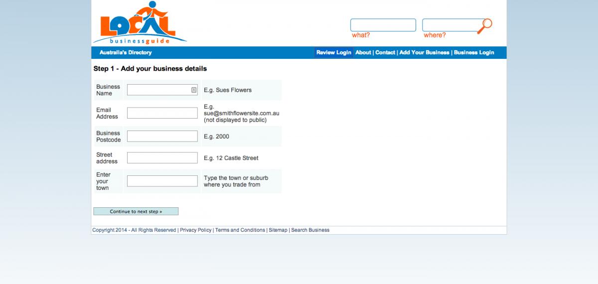 03 - add your business details - LBG