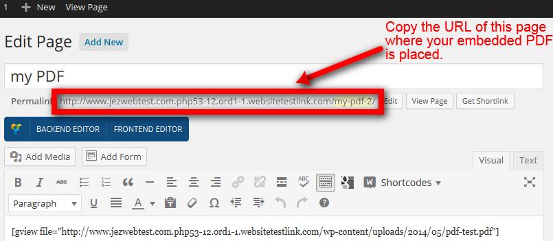 Linking to embedded PDF - Web Design with WordPressWeb